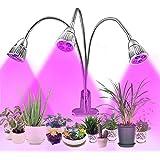 Lovebay 3*5W 15LED Pflanzenlampe Pflanzenlicht  Rot Blau(9:6) für Zimmerpflanzen zum überwintern  mit 360° einstellbar Flexible Gooseneck  Büro Haus Garten Aquatische Pflanzen  Adapter mitgeliefert
