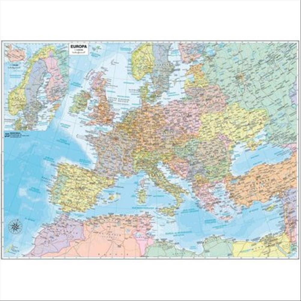 Papel geográfico mural Europa 132 x 99 cm Belletti: Amazon.es ...