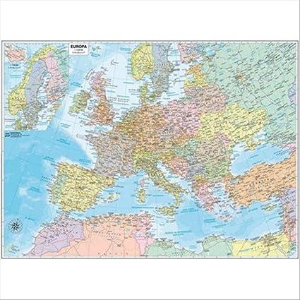 Cartina Giografica.Belletti M03pl 07 Carta Geografica Murale Europa 132 X 99 Cm Amazon It Cancelleria E Prodotti Per Ufficio