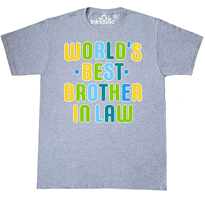 fff82623e0 inktastic - Worlds Best Brother in Law T-Shirt Small Athletic Heather 31b92