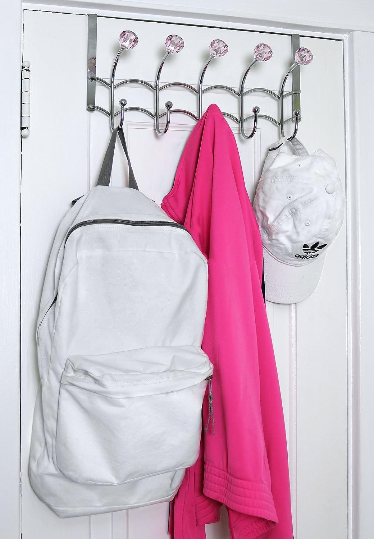 Amazon.com: galashield sobre la puerta gancho Rack 5 Rosa ...