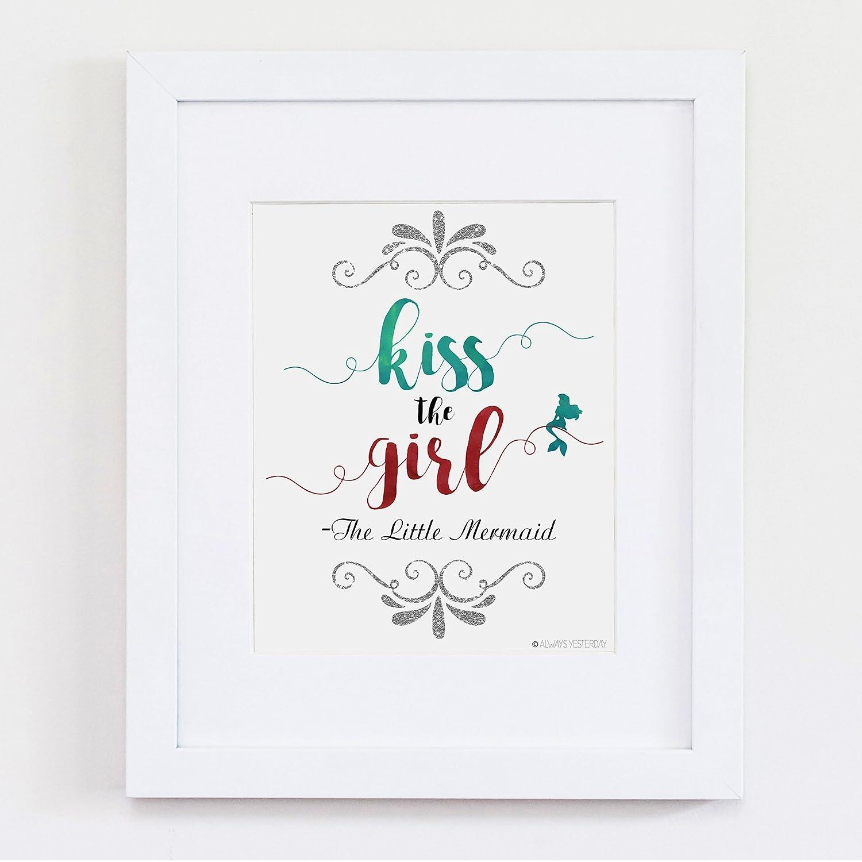 Amazon.com: Kiss The Girl | The Little Mermaid Artwork ...