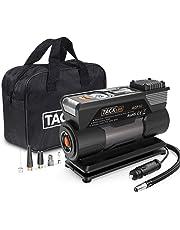 TACKLIFE ACP1C Compressore Aria Portatile Auto - 120W DC 12V Mini Pompa Elettrica con Ampio Schermo LCD, 150PSI Manometro Digitale per Pneumatici, 40Litri/Min, Preselezione e Spegnimento Automatico