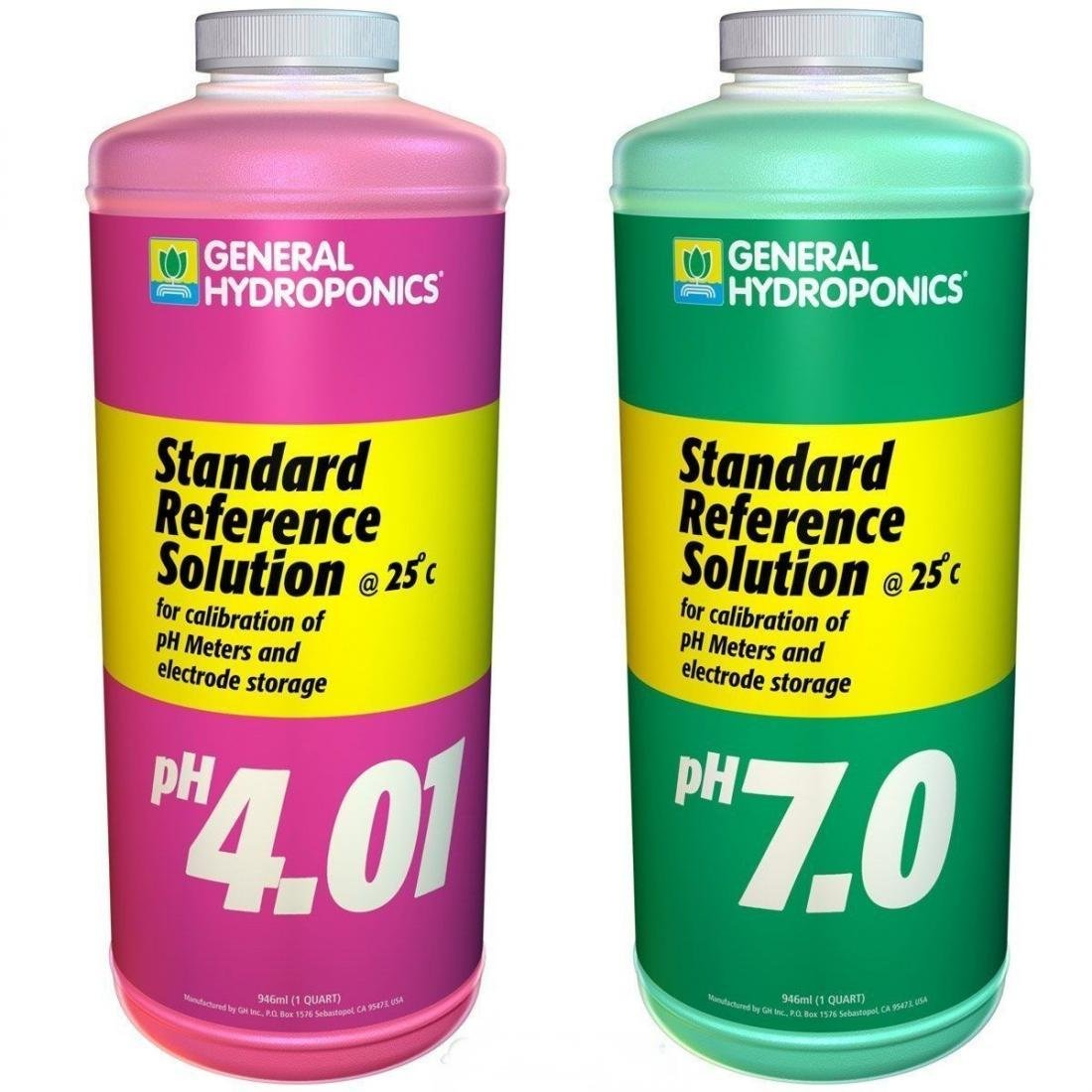 2-Pcs Radiant Modern GH Calibration SolutionsReliable Results General Buffer Allowing Growers pH4.01 and pH7.01 Volume 32 oz by General Hydroponics