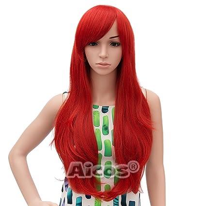 Aicos® Cosplay parrucca sintetica lungo rosso Curly Costume parrucche per  sirenetta Ariel parrucca  Amazon.it  Bellezza b19cd7b1f2b