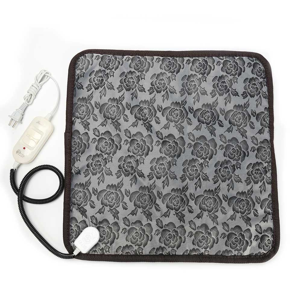 Baring Pet Heating Mat-Electric Heating Pad for Pet Constant Temperature Warming Cushion Bed for Dog and Cat with Anti Bite Tube 17.7''x17.7''