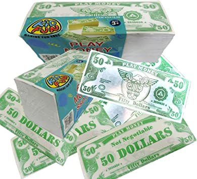 Amazon.com: Novedad Jugar Phoney 1000 Pack Dinero Fake $50 ...