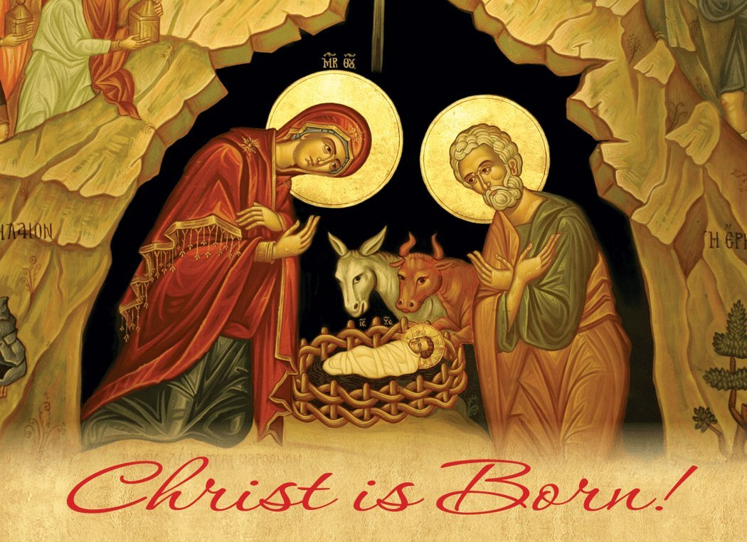 Amazon.com : Christ is Born! Icon Christmas Cards -15 Cards with ...