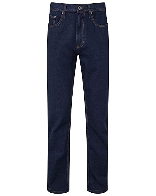 Cotton Traders Mens Check Stretch Jeans Zip Fly Button Fastening Leg Size 27