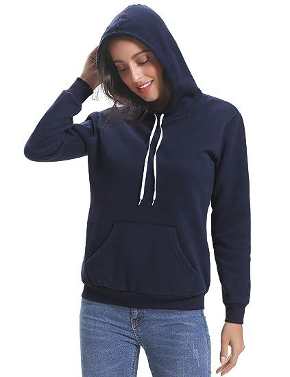 b41ea1efbedaa Sweat Capuche Femme Epais Coton Pull Femme Capuche Sweat-Shirt Femme Sport  Tee Shirt Décontractée