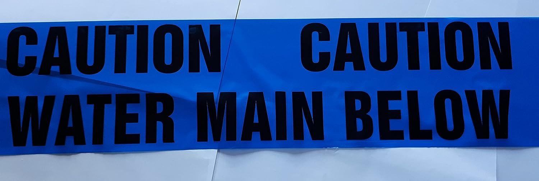 Caution Water Main Below Warning Tape 50 Metre Custom Cut Length