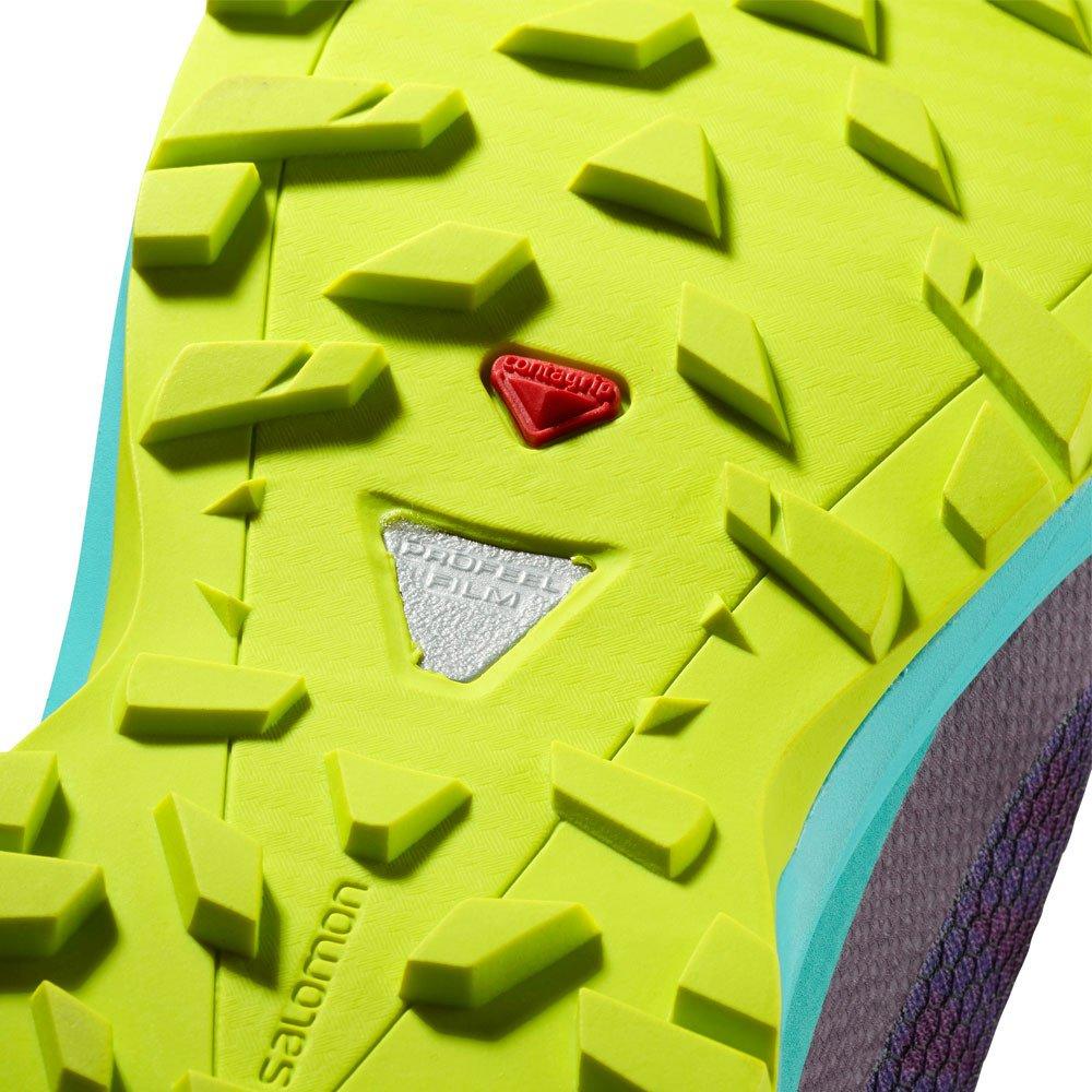 Salomon XA Elevate Running Shoe - Women's B074KGWMY6 10.5 B(M) US|Dark Purple, Blue Curacao, Acid Lime