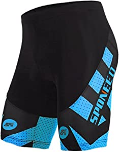 Free sponeed Men's Cycling Shorts Padded Bicycle Riding…