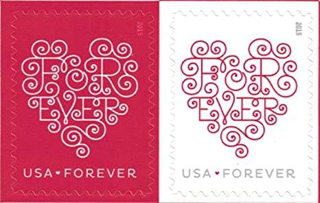 Usps Christmas Stamps 2019.Forever Hearts Sheet Of Twenty Forever Stamps Great For Weddings Scott 4955 By Usps