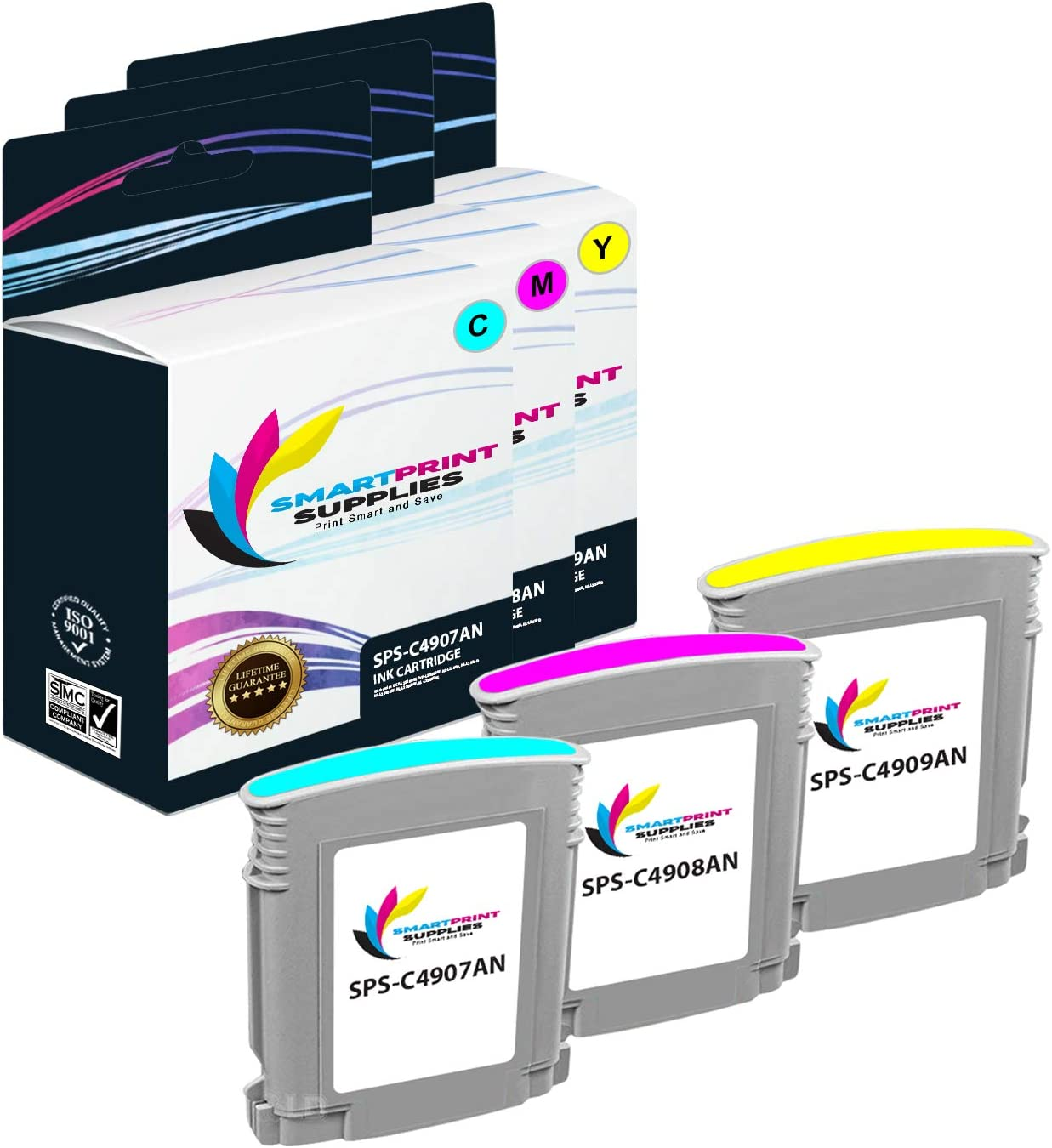 Smart Print Supplies Compatible 940XL 940 XL High Yield Ink Cartridge Replacement for HP OfficeJet Pro 8500 8500a Printers Cyan, Magenta, Yellow 3 Pack