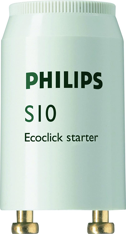 Philips s10 ecoclick lot de 10 starters pour tubes fluorescents de 4– 65 w