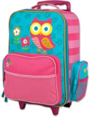 Stephen Joseph Little Girls' Rolling Luggage, Teal Owl, One Size, 1 Pack