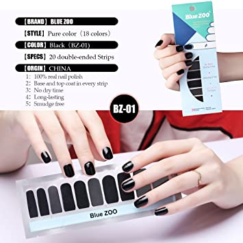 Amazon 20 Tipssheet Pure Color Series Nail Polish Stickers Art
