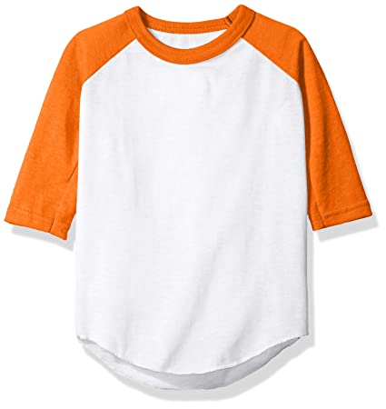 f9f3614121eb Amazon.com: Augusta Sportswear Baseball Jersey, 4 Tall, White/Orange ...