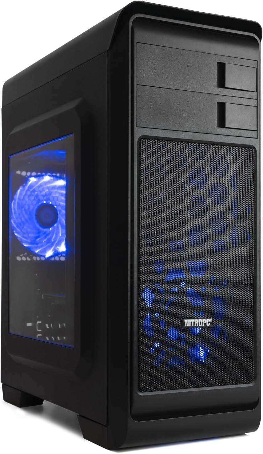 NITROPC - PC Gamer VX *Rebajas de marzo 2020* (CPU Ryzen, 4 x 3,40Ghz, T. Gráfica Nvidia GTX 1650 4GB, SSD 240GB, Hdd 1TB, Ram 16GB) + WIFI de regalo. pc gamer, pc gaming, pc para juegos, ordenador ju
