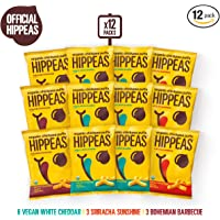 HIPPEAS Organic Chickpea Puffs Variety Pack 1.5 ounce 12 count Vegan Gluten Free Crunchy Protein Snacks