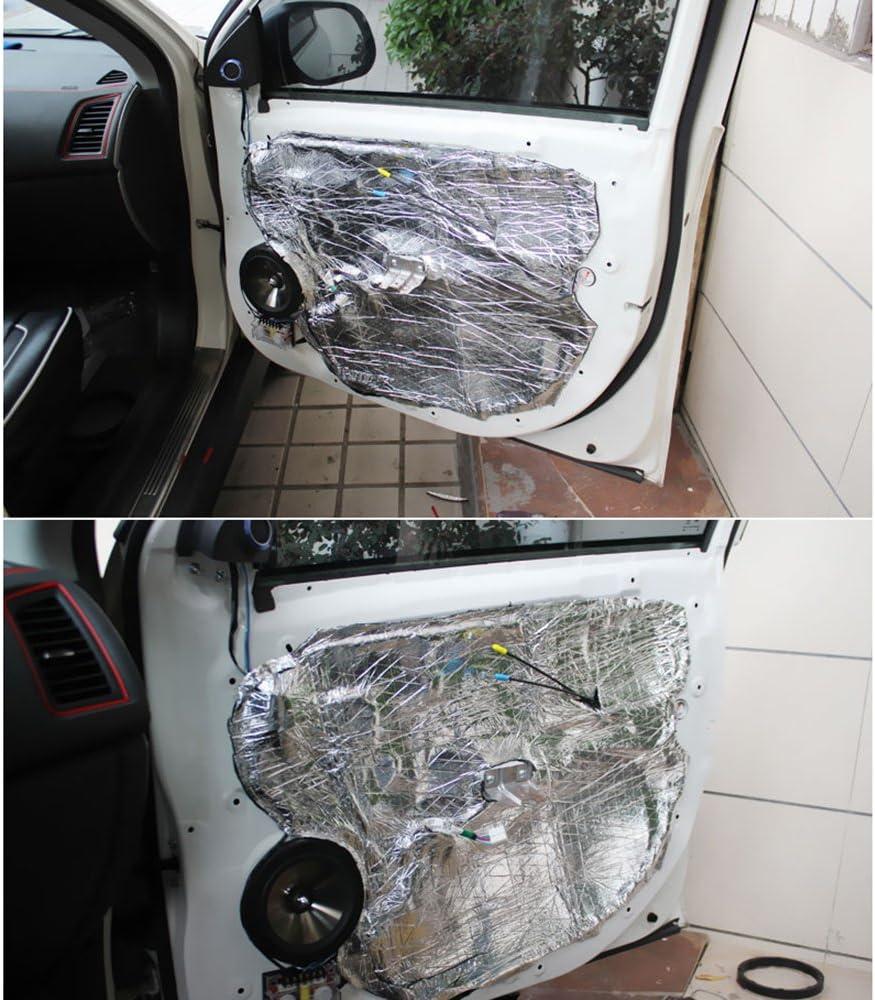 Tickas Heat Shield Barrier 5Pcs 7mm 500x500mm 20〃x20〃 Auto Car Truck Firewall Heat Sound Deadener Insulation Mat