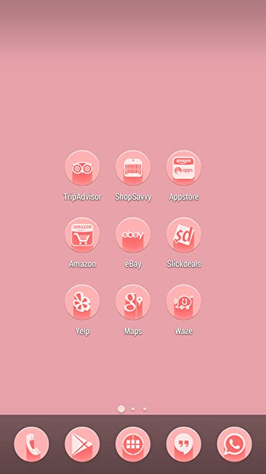 Amazon com: Baby Pink Icon Pack Theme: Appstore for Android