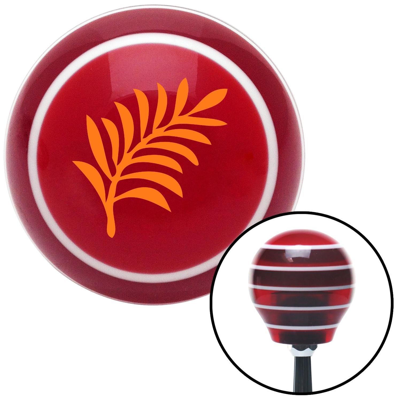 American Shifter 113630 Red Stripe Shift Knob with M16 x 1.5 Insert Orange Hawaiian Leaf #3