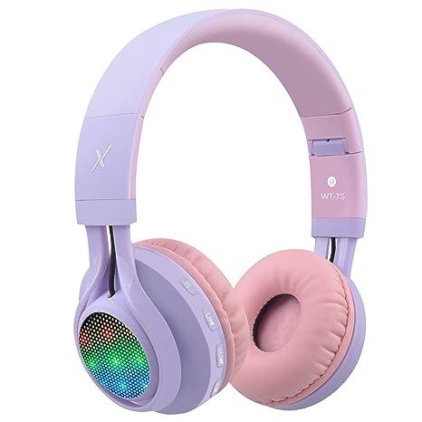 Auriculares Riwbox WT 7S inalámbricos con Bluetooth, luz LED, plegables, con