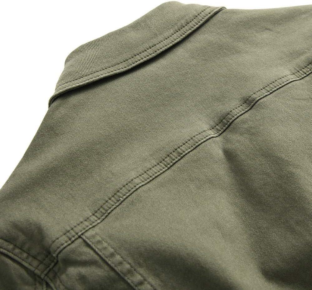 Men jacket XIELH Denim Giacca Uomini Solido Cappotto Outwear Turn-Down Collare Maschio Casual Denim Giacca Plus Size Verde militare