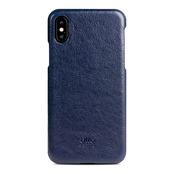 the best attitude f0d38 fff9d alto Handmade Premium Italian Leather Case for Apple iPhone X/Xs Original  (Navy)