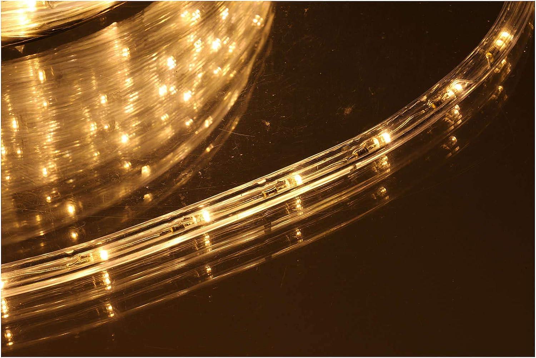 Holyart Luz Navidad Tubo Led Blanco c?Lido 50 m 3 v?as al Corte