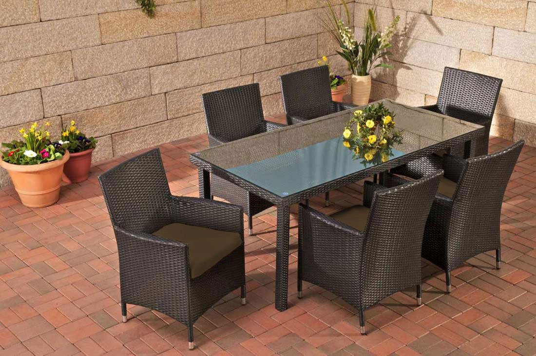 Gartenmöbel Gartenmöbel Set Sitzgarnitur Florenz Terra Braun