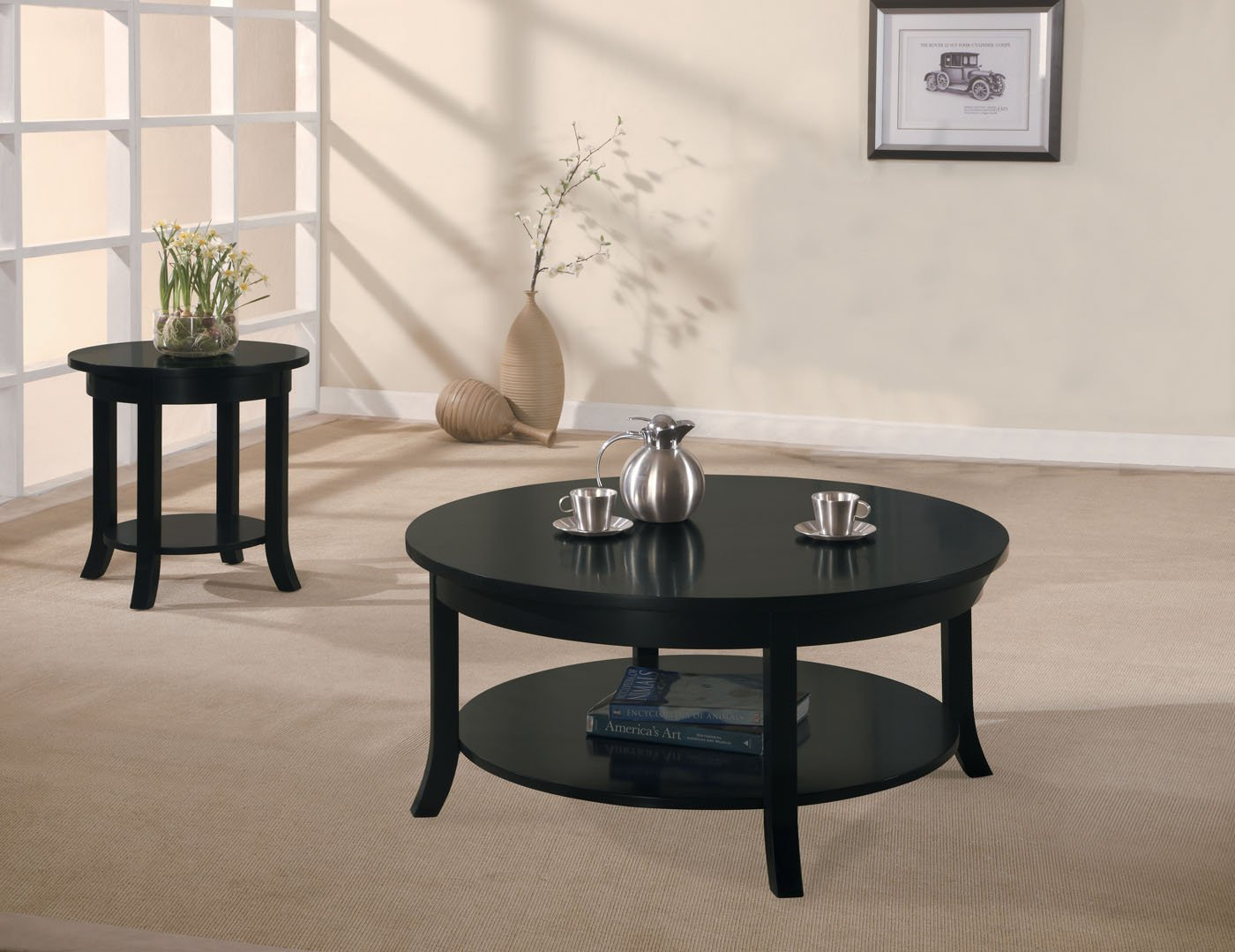 amazon com acme 08000b gardena coffee table black kitchen u0026 dining