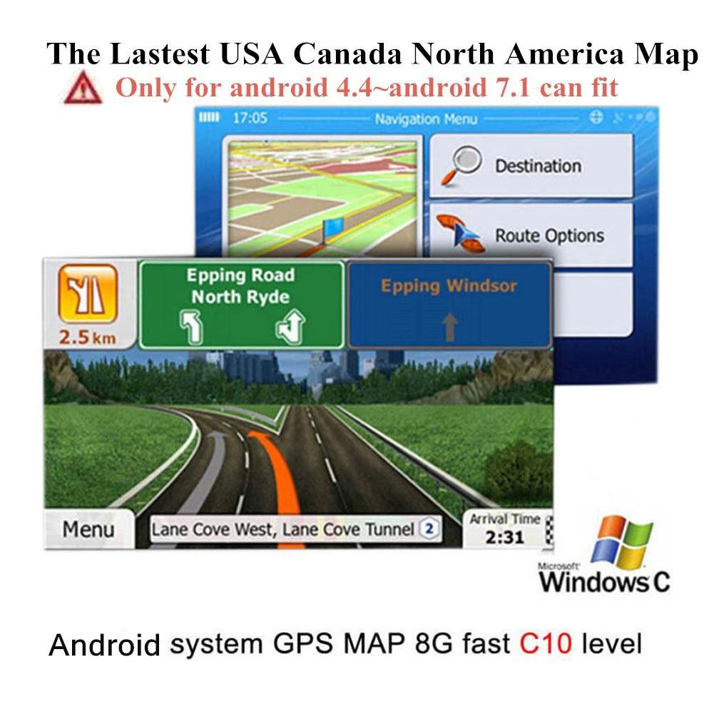 Latest Android 4.4-7.1 System USA Canada North America Navigation GPS Card for Car Stereo with Easy Programming Instructions by COROTC (Image #4)