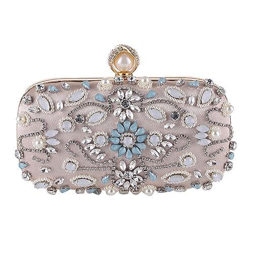 Amazon.com: Clutch de diamante para mujer, adornado con ...