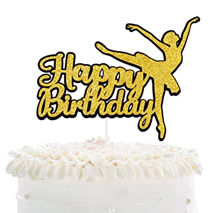 Outstanding Ballerina Happy Birthday Cake Topper Dancing Girl Fairy Sweet Personalised Birthday Cards Cominlily Jamesorg