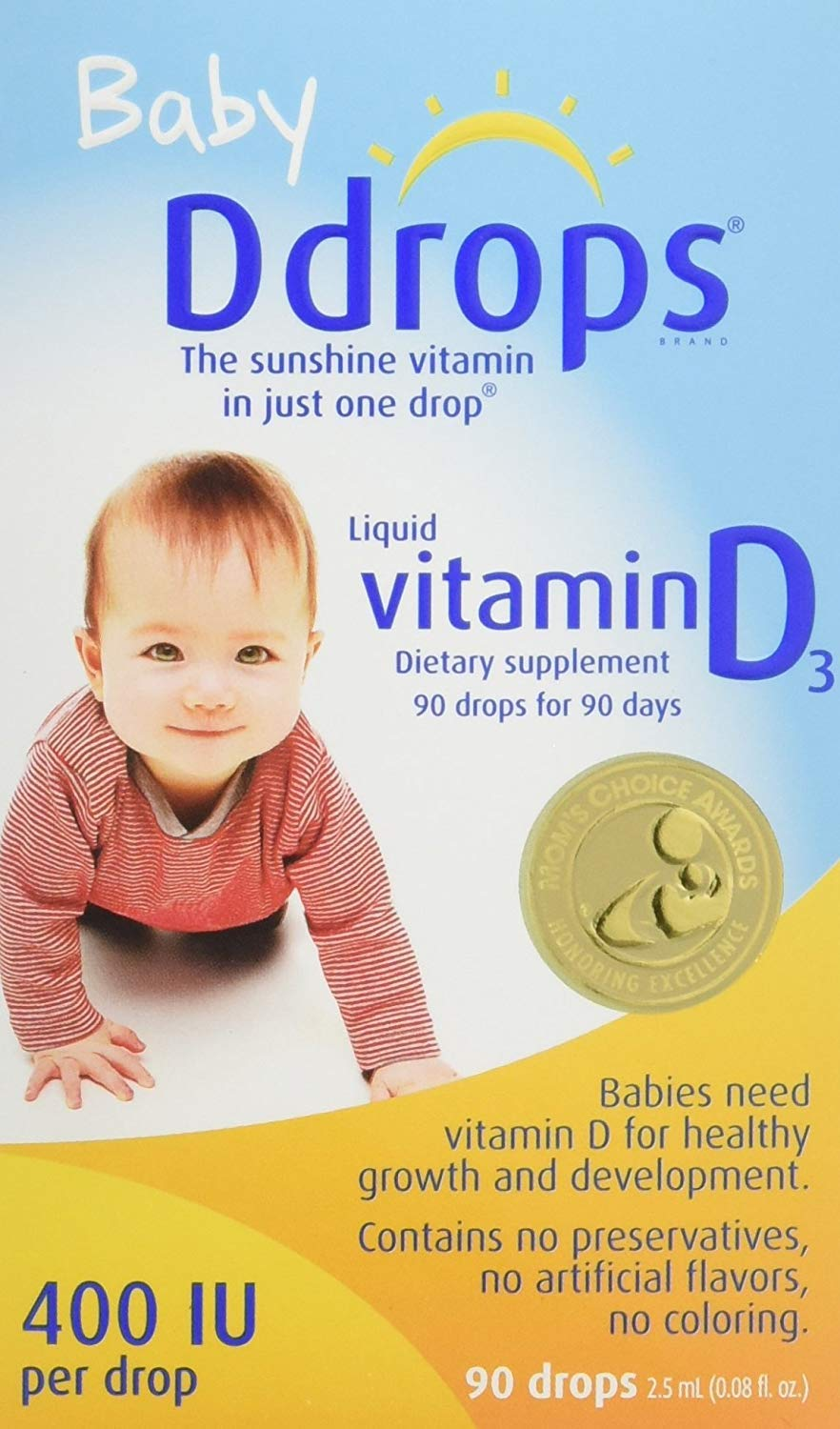 Ddrops Baby 400 IU, Vitamin D, 90 Drops, Pack of 4