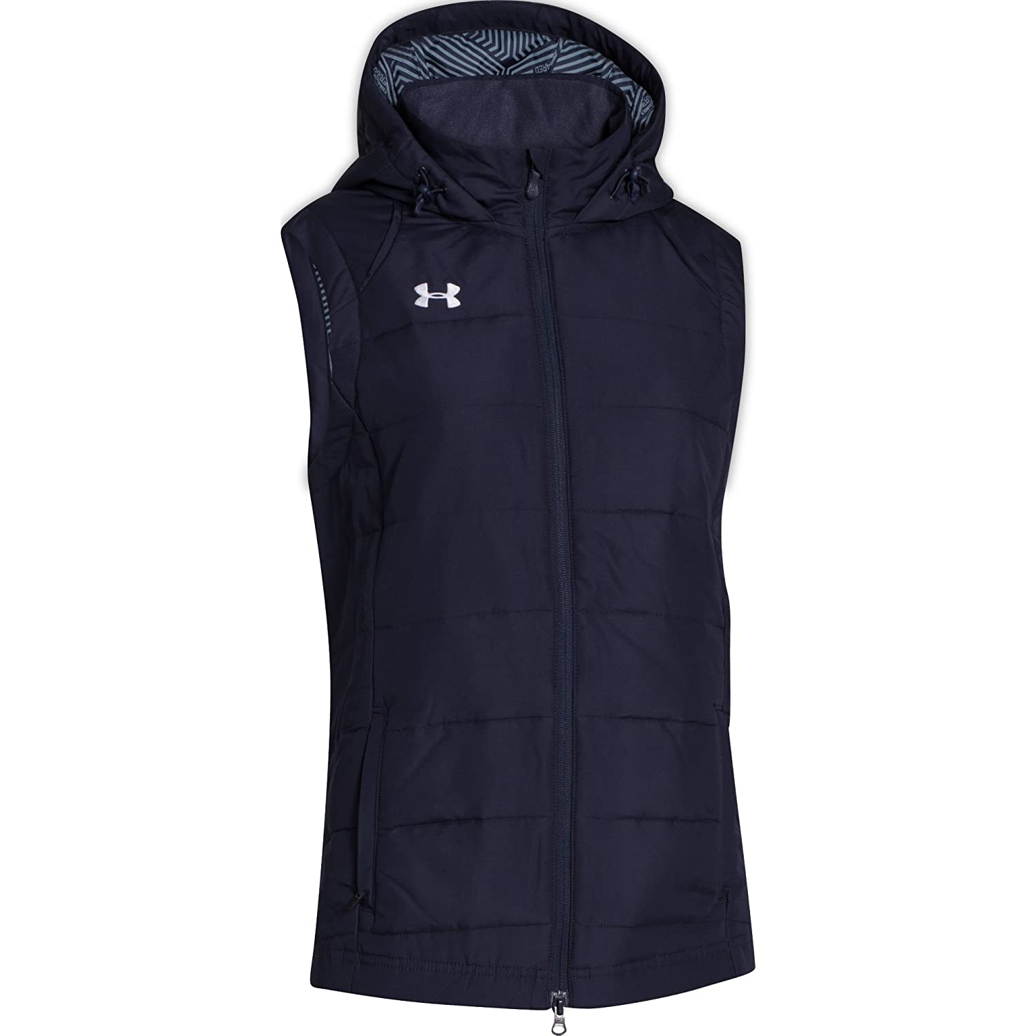 Under Armour Womens ColdGear Infrared Elevate Vest Large Midnight Navy//White