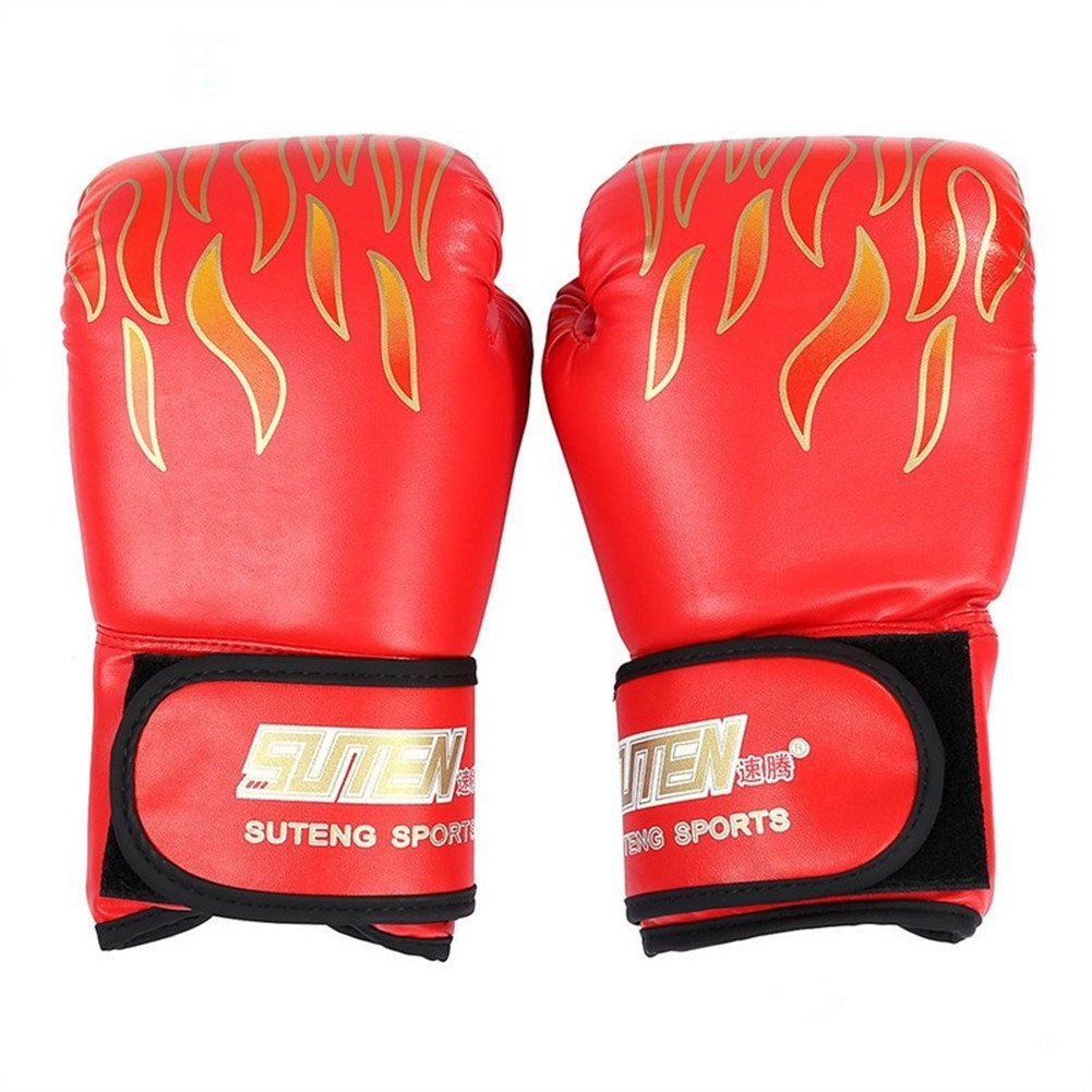 Kagogo Boxing Gloves Muay Thai Training Maya Hide Leather Sparring Punching Bag Mitts Kickboxing Fighting UFC (Black)