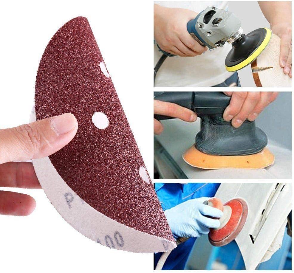upain Sanding Sheets 80 Pieces Sanding Discs Pads Sandingpaper Mouse Sander Pads Hook and Loop Assorted 60 80 120 180 240 320 400 800 Grits for Multi-Sanders
