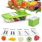 Baban Mandolina 5 en 1 multi-función de la máquina de cortar los alimentos,vegetal máquina de cortar, cortadora de frutas y queso, Con 5 cuchillas