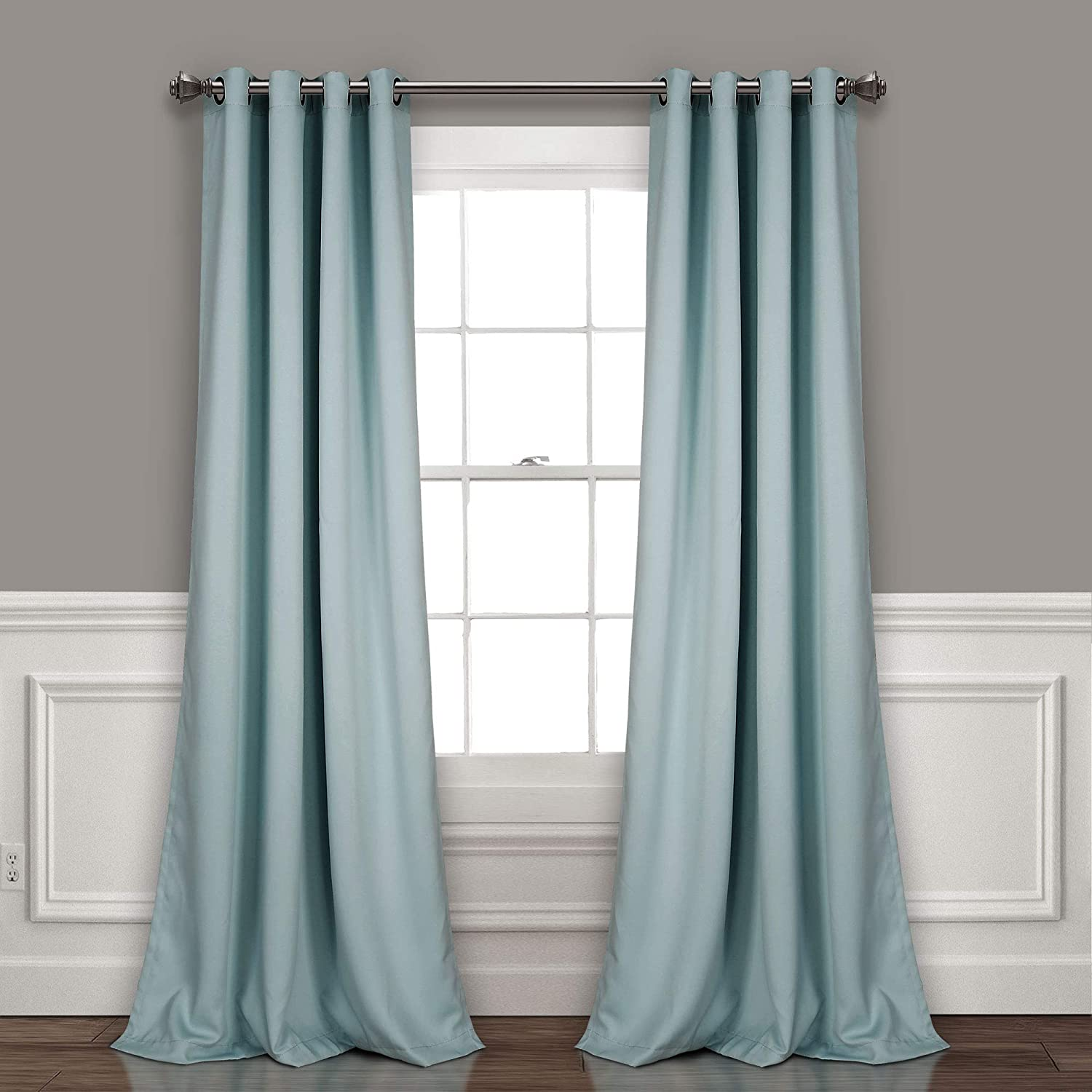 Lush Decor Curtains-Grommet Panel with Insulated Blackout Lining, 95