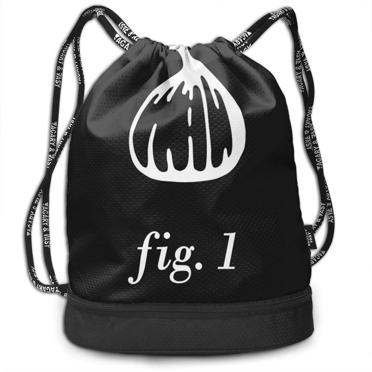 1 Cinch Backpack Sackpack Tote Sack Fig Zol1Q Lightweight Waterproof Large Storage Drawstring Bag for Men /& Women