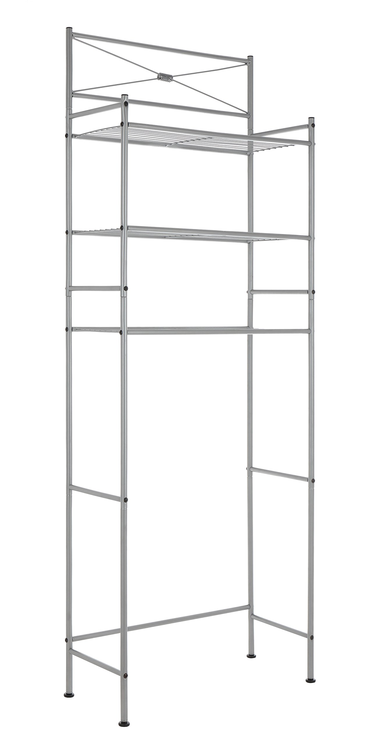 Finnhomy 3 Shelf Bathroom Space Saver Over The Toilet Rack Bathroom Corner Stand Storage Organizer Accessories Bathroom Cabinet Tower Shelf with Nickle Finish 23.5'' W x 10.5'' D x 64.5'' H by Finnhomy