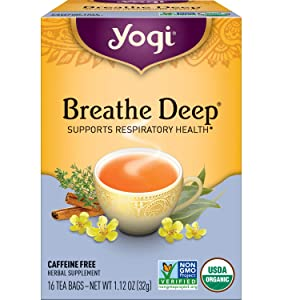 Yogi Tea - Breathe Deep (6 Pack) - Supports Respiratory Health - 96 Tea Bags
