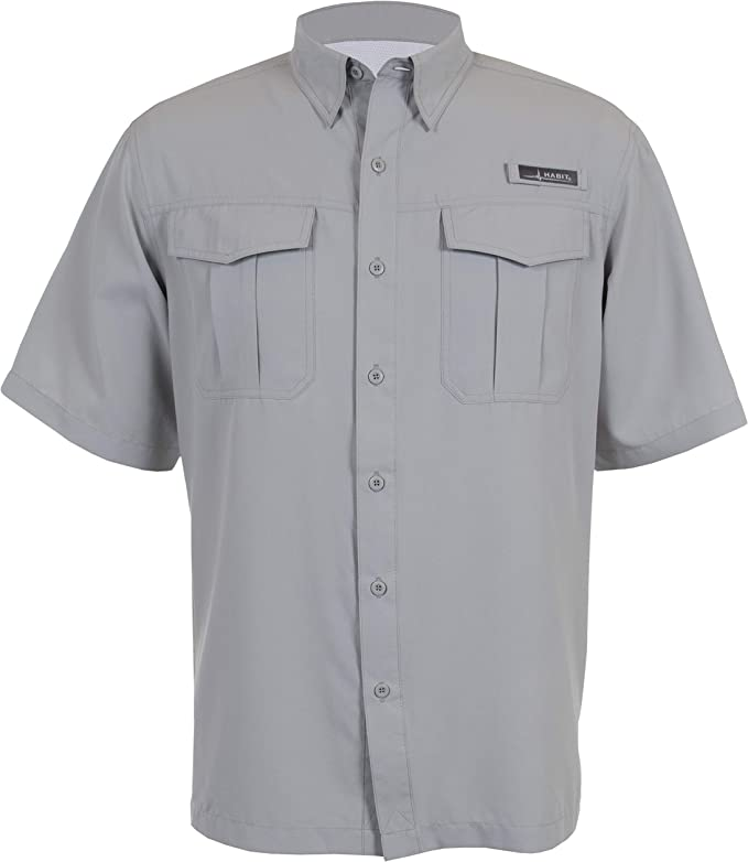 HABIT Men's Belcoast Short Sleeve River Guide Fishing Shirt best men's fishing shirt
