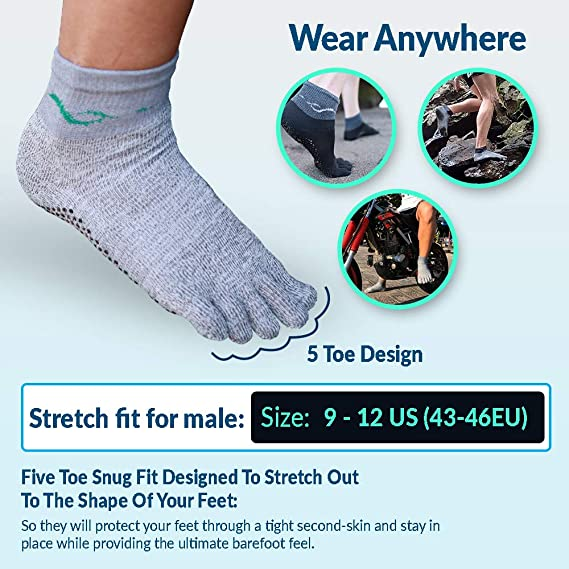 Parallaxx Cut Proof Abrasion Resistant Barefoot Action Socks Feet Protection Outdoors Kiteboarding Surfing