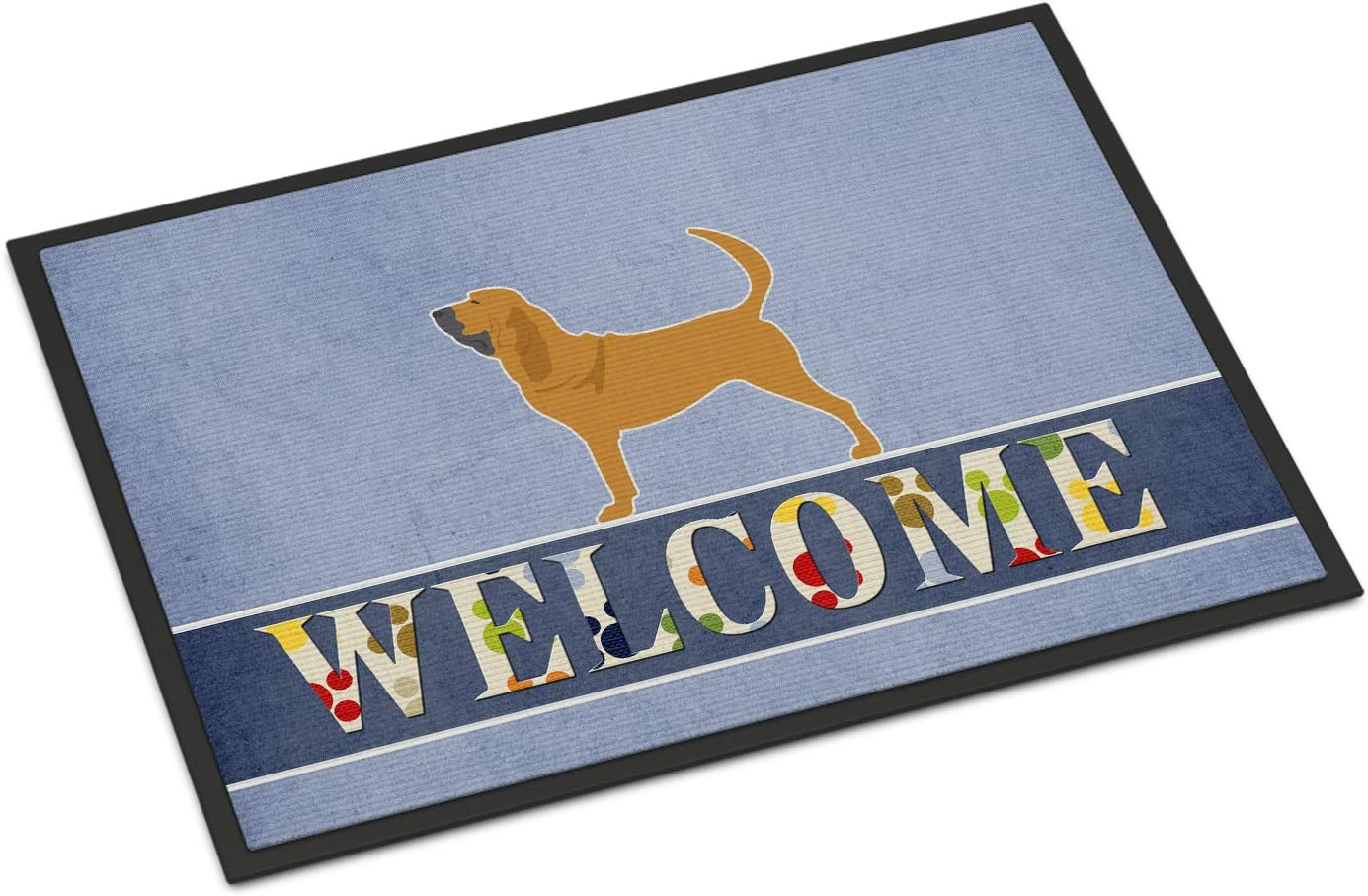 Caroline s Treasures BB5488MAT Bloodhound Welcome Indoor or Outdoor Mat 18×27, 18H X 27W, Multicolor