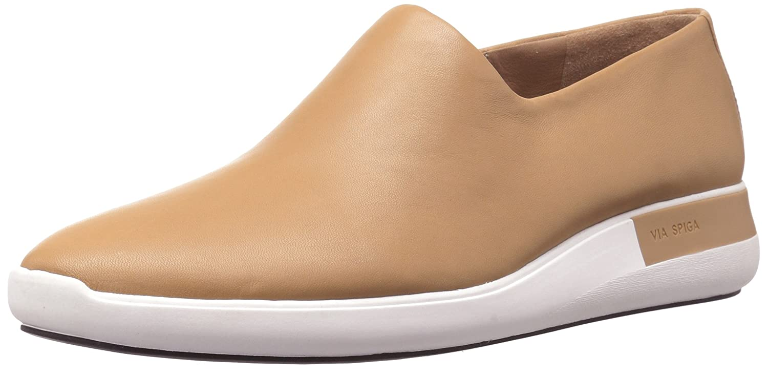 Via Spiga Women's Malena Slip Sneaker B06XH7M435 9 B(M) US|Desert Leather